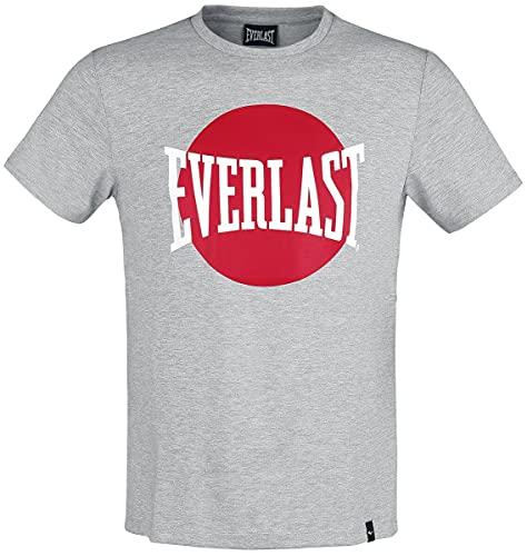 Everlast Sports - Jersey para Hombre, Hombre, Camiseta de Manga Corta, 788371-60, Gris Multicolor, Large