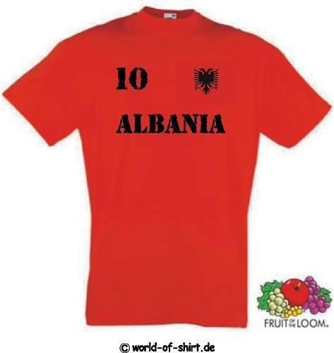 world-of-shirt Herren T-Shirt Albanien im Trikot Look