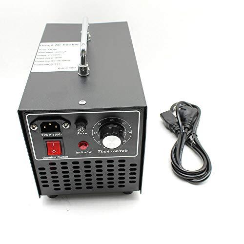 Purificador de aire, generador de ozono, dispositivo de ozono, 10.000 mg/h, 160 W, enchufe europeo para habitaciones, humo, coches (negro)