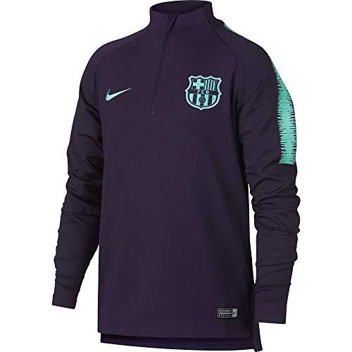 Nike Herren FC Barcelona Dry Squad Drill Trainingsshirt, lila/Türkis, 2XL-56/58