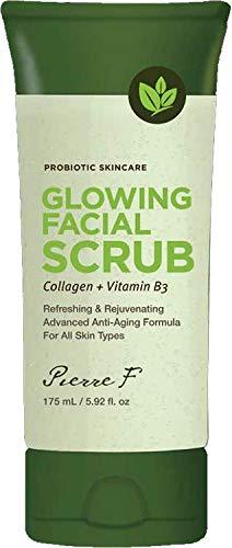 Pierre F Probiotic Glowing Facial Scrub Collagen + Vitamin B3 5.92 fl oz