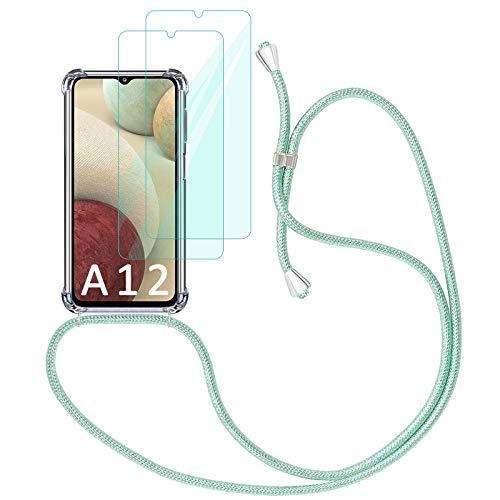 Yohii Funda con Cuerda para Samsung Galaxy A12 / M12 + [2...