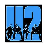 U2 ミュージックバンド 木製 額縁 フォトフレーム 壁掛け 木製 横縦兼用 絵を含む 40×40cm
