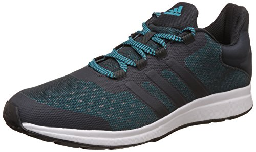 9. Adidas Men's Adiphaser M Dkgrey, Eneblu and Dkgrey Running Shoes