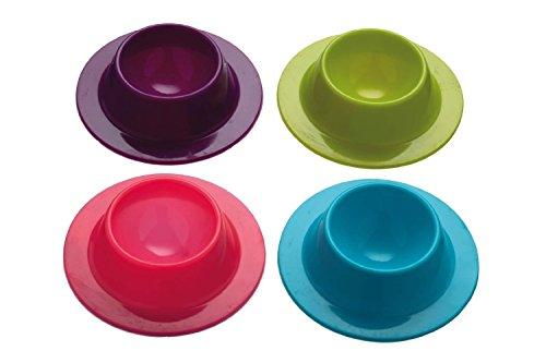 Da.Wa 4 pièces (Violet, Rose,Bleu, Vert) Oeuf Moules Cuit-œuf Anti-AdhéSif RéCipient Cooker Oeuf Pocheuse Cuisson
