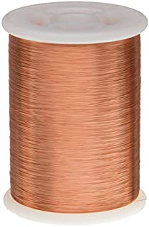 """Remington Industries 37SNSP Magnet Wire, Enameled Copper Wire, 37 AWG, 1.0 lb, 15798` Length, 0.0049"""" Diameter, Natural"""