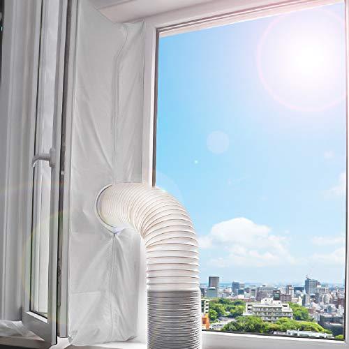 Fensterabdichtung, für mobile Klimageräte, Klimaanlagen, Wäschetrockner, Ablufttrockner, stop Heiβluft zum Anbringen an Fenster, Dachfenster, Flügelfenster, Fensterabdichtung Klimaanlage 400cm