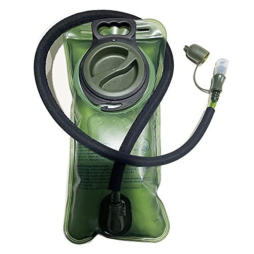 FIBOUND 2L Sacca Idratazione Sacca del' Acqua Sistema di Idratazione Vescica Portatile con Valvola Mordente BPA Gratuito Antibatterico per Zaino Idratazione, Ciclismo, Escursionismo, Camminata-verde