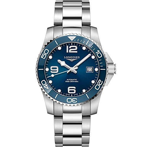 Longines HYDROCONQUEST Reloj de buceo automático de cerámica con esfera azul de 41 mm L37814966