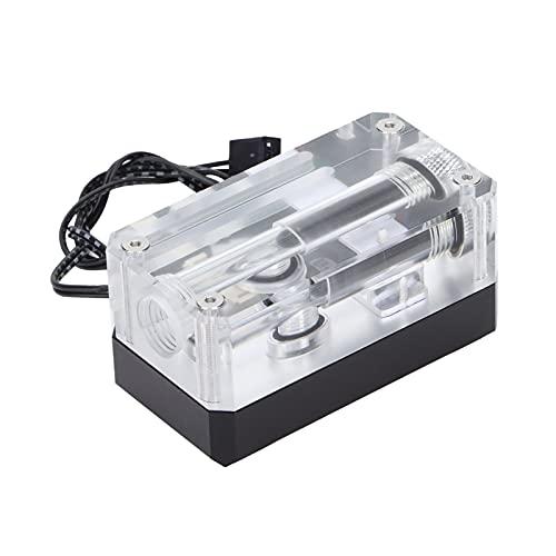 Termómetro de agua, indicador de temperatura de la CPU de la computadora con pantalla digital LED, termómetro electrónico de caudal LSJ-ZNR para monitoreo de temperatura de velocidad de computadora