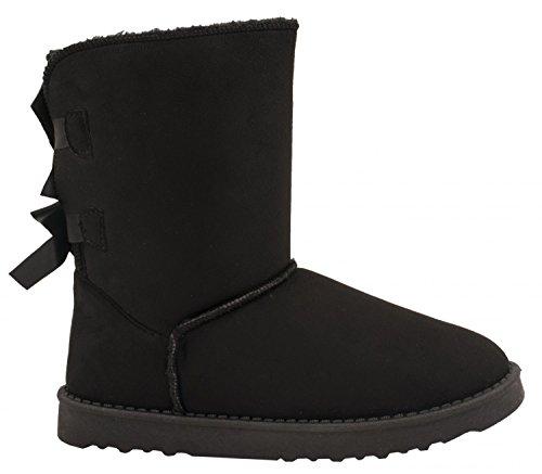 Elara Damen Stiefel Winter Boots Chunkyrayan S129-Schwarz-40