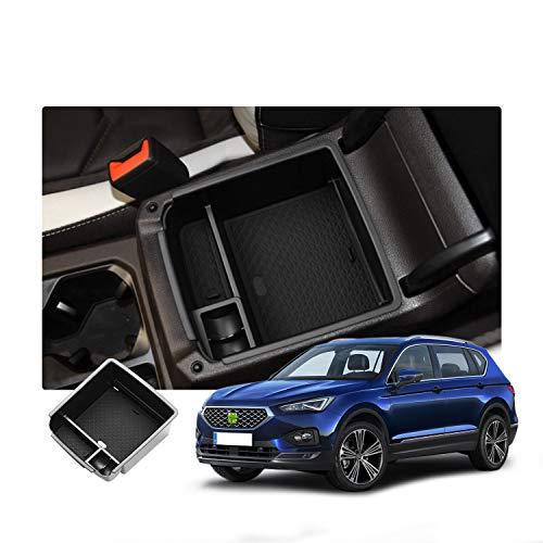 RUIYA Aufbewahrungsbox Aufbewahrungskiste Mittelkonsole Veranstalter Armlehne Box angepasst für 2019+ Seat Tarraco / 2016-2019 Tiguan MK2