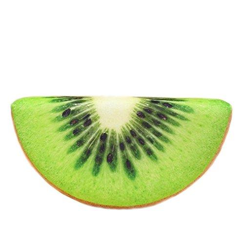 hunpta 3D Fruits Oreiller, 3D Fruits Doux Taie d'oreiller Coussin en Peluche Orange Pastèque galettes de Décor, b