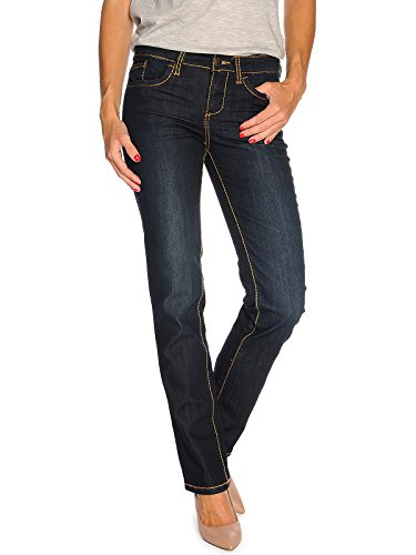TOM TAILOR Damen Straight Alexa/407 Jeans, Blau (Rinsed Blue Denim 1100), W28/L34