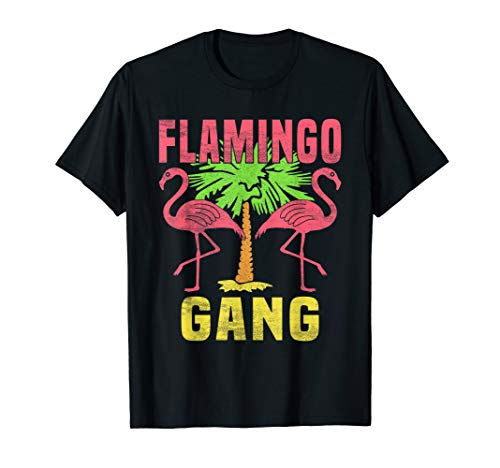 Flamingo Gang - Mallorca Party Disco Outfit - Lustig Spruch T-Shirt