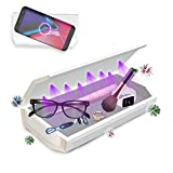 Cahot Boîte de désinfection UV grande capacité 8 UV LED UV-C Charge rapide pour téléphone intelligent, fonction aromathérapie, boîte de stérilisation UV pour téléphone portable, bijoux, outils de beauté, équipement pour ongles