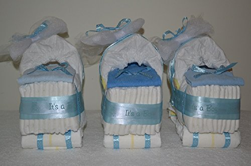 Triplet Diaper Cake Stroller/ Diaper Bassinet - Girl/ Boy/ Gender Neutral