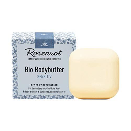 Rosenrot Naturkosmetik - Bio Bodybutter - Sensitiv - Für besonders empfindliche Haut - Pflegt intensiv & schonend, ohne Duftstoffe