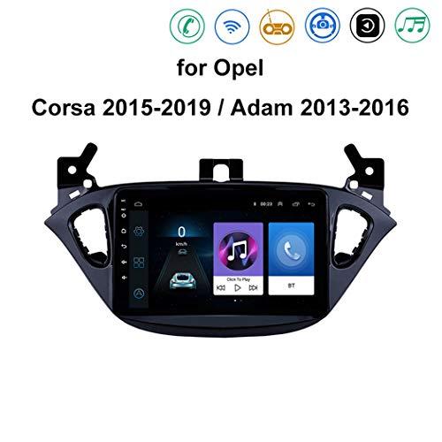 ZhiQin Android 8.1 Car Radio de navegación GPS para Opel Corsa 2015-2019 con 8 Pulgadas Pantalla Táctil/Multimedia Reproductor, Soporte Mirror Link/USB/AUX/Dab/DVR/Bluetooth