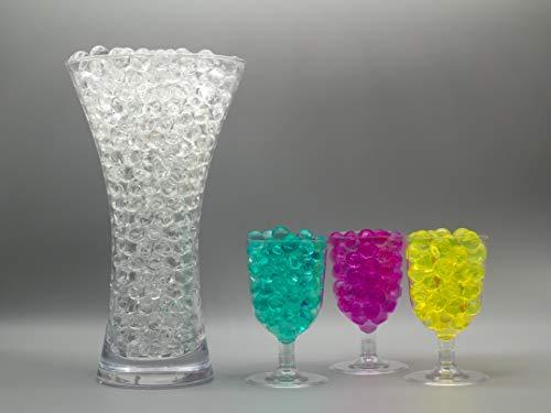 Risai Wasserperlen für Dekoration, Fuss-Spa Nachfüllungen, Hält Pflanzen feucht, Ideal für Tafelaufsätze, Wassergel-Kugeln, Gel-Perlen für Vasen Pflanzen, Blumen, gemischte Kristalle,