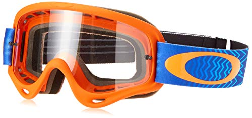MASQUE VTT OAKLEY O FRAME MX SHOCKWAVE ORANGE/BLUE ECRAN CLAIR
