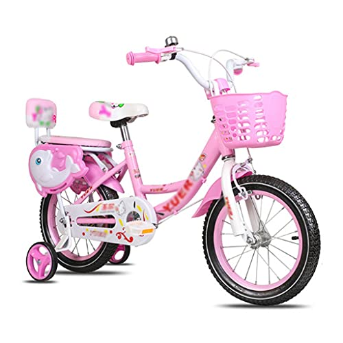 Children's bicycle 12 14 16 18 Inch Kids Bike with Training Wheels and Basket for 3-9 Years Old Boys Girls Toddler Bike with Backseat and Installation Tools ( Color : Style2 , Size : 12inch )