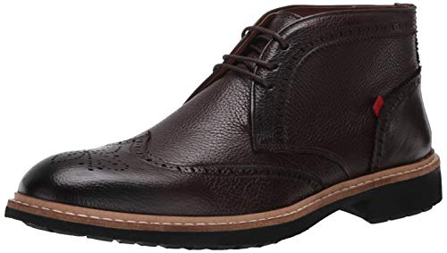 MARC JOSEPH NEW YORK Herren Leather Luxury Ankle Boot with Wingtip Detail Stiefelette, Braune Maserung, 41 EU