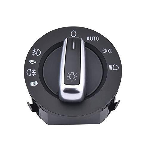 Maquer Interruptor de control de luz antiniebla para faros delanteros, compatible con Audi A6 S6 C6 RS6 Allroad compatible con Q7 4FD941531A 4F1941531E (color: predeterminado)