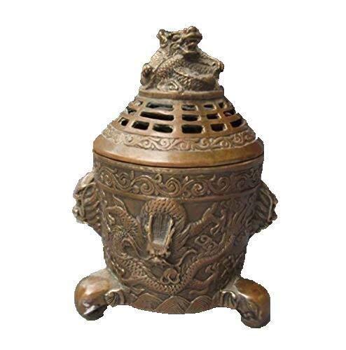 Ketting Chinese Bronzen Graveren Draak Antieke Wierook Branders Collectie