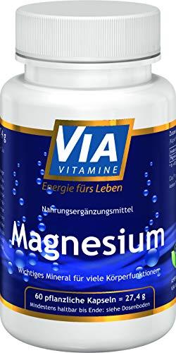Magnesium 60 Kapseln 200mg rein natürlich, vegan ohne Zusätze, Premiumqualität aus Deutschland
