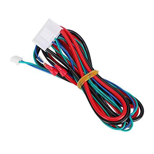 Redxiao Cable de alimentación de Cama Caliente de 90 cm, práctico Cable de alimentación de Cama Caliente Estable Fuerte para Anet A8 A6 A2 A3 E12 E10
