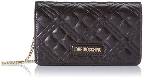 Love Moschino Jc4093pp1a, Borsa a Mano Donna, Nero (Nero), 4x11x18 cm...