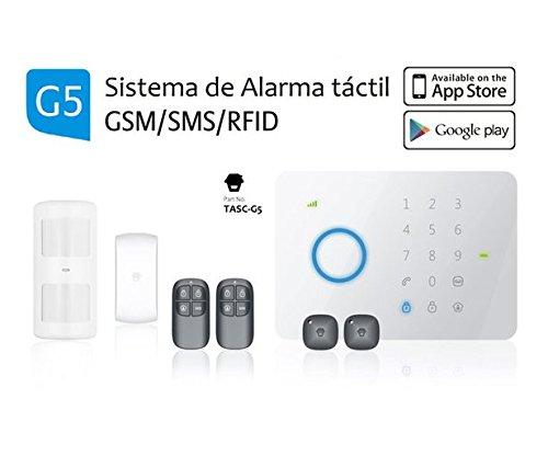 Alarma SIN cuotas G5PLUS gsm/SMS con Panel de Control táctil e inalámbrico
