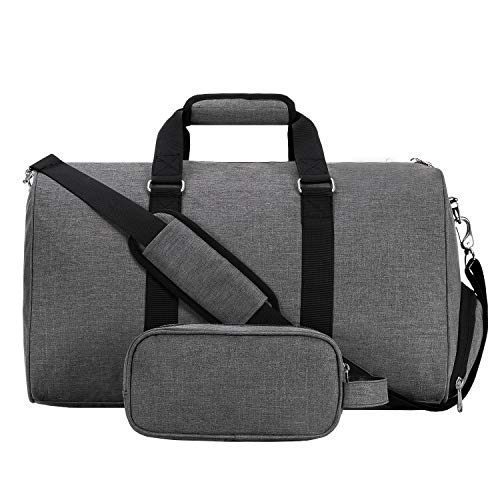 MIER Sport Gym Duffel Bag with Shoes Compartment for Women Men, Weekender Overnight Duffel...