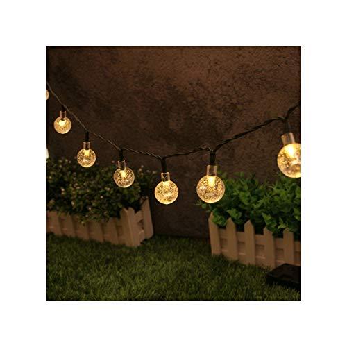 Ziao Guirnalda de luces LED solar para exteriores, impermeable, para jardín