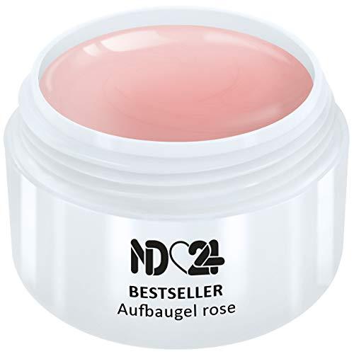 30ml - BESTSELLER - AUFBAU-GEL rosa dickviskos - UV Nagelgel - Made in Germany - säurearm selbstglättend