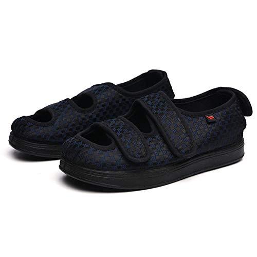 B/H Calzado para diabéticos,Zapatos de Hombre Grandes pies hinchados, Zapatos correctivos de Pulgar valgus-Blue_47,Artritis Zapatos para diabéticos