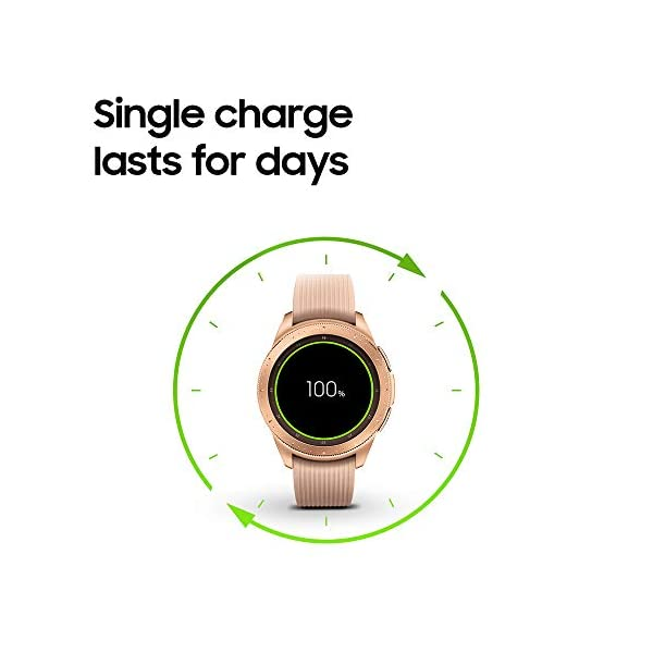 Samsung Galaxy Watch smartwatch (42mm, GPS, Bluetooth) – Rose Gold (US Version with Warranty)