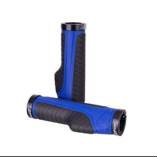 HBSM Mango 1 Par De Agarre Ergonómico para Ciclismo, Agarre Antideslizante, Tapones para Manillar De Bicicleta Plegable MTB, Piezas De Aleación + Goma (Color : Blue)
