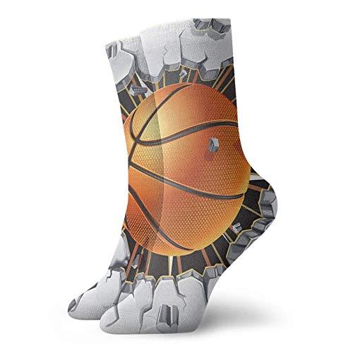 Yaxinduobao Baloncesto Rompe Pared De Yeso Vieja Calcetines Calientes Y Transpirables Calcetines Casuales 30cm