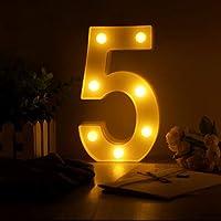 Page Adelasd1 PC Creativo 26 inglés alfanumérico Letras luminiscentes LED luz Nocturna decoración romántica del Banquete de Boda