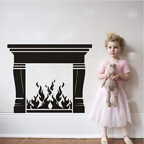 Haard vinyl muursticker Home woonkamer decoratie muurtattoos open haard design PVC behang vinyl Home Art 57x46cm