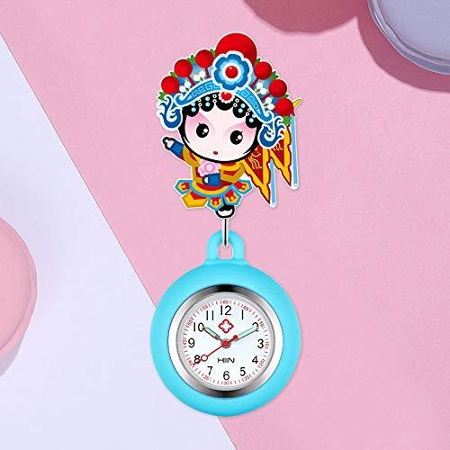 Reloj de Enfermera,Estirable Reloj de Bolsillo de Reloj de Enfermera Lindo, Reloj...