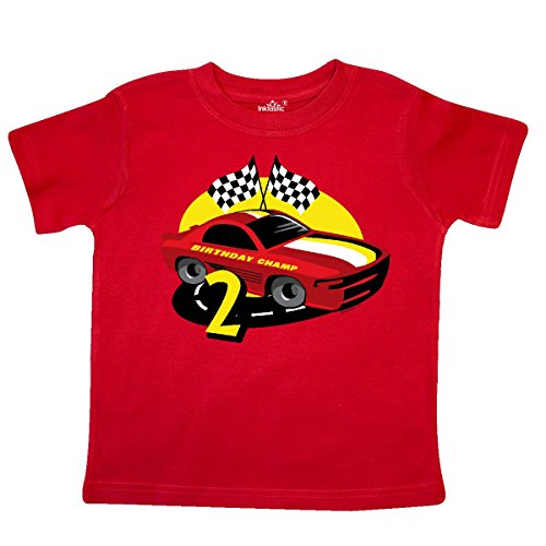 inktastic Race Car 2nd Birthday Toddler T-Shirt 3T Red 17bbf