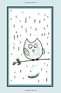 Kawaii Owl Blank Sketchbook: 120 pages, 6