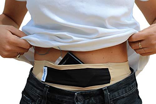 Glucology™ Diabetes Gürtel Insulinpumpe | Beige, Klein | Geeignet für Sport oder Reisen – Diskret, mit einfachem Zugriff auf die Insulinpumpe | Mit Klettverschluss, geeignet für alle Insulinpumpen