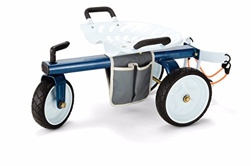 Gorilla Carts GCG-RGS Rolling Garden Scooter, One Size, White, Blue & Black