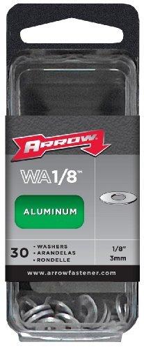 Arrow Fastener WA1/8 Aluminium-Unterlegscheiben, 1/8 Zoll (4 Stück)