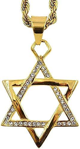 FACAIBA Halskette Jüdischer Stern der Halskette Langkettige Halskette Frauenmode Halskette für Frauen Männer Geschenke