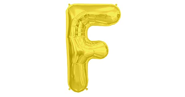 NorthStar Foil Balloon 000253 Letter F Gold 34,